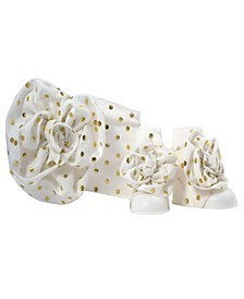 Baby Girls with Polka Dot Headband and Peep Toe Gift Set