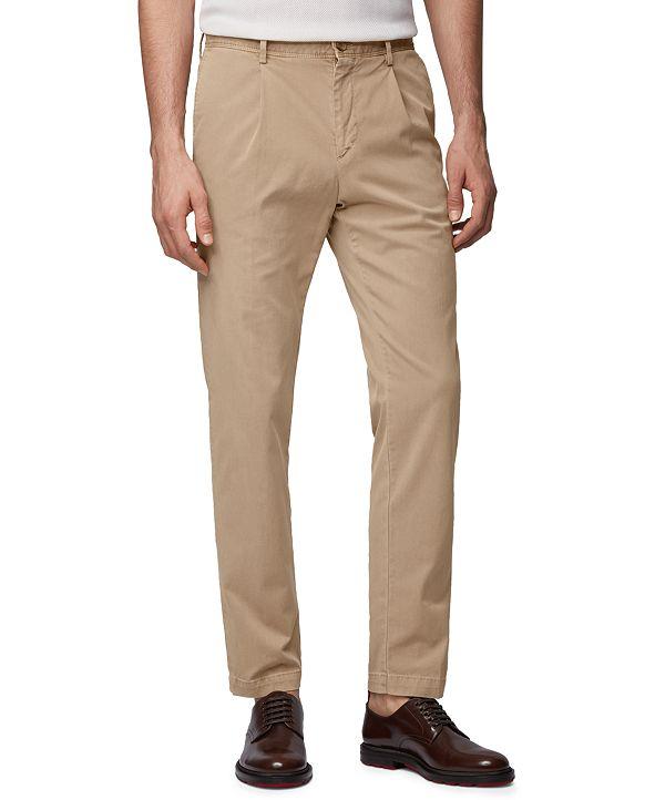 Hugo Boss BOSS Men's Sleat-S Light Pastel Brown Pants