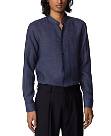 BOSS Men's Jordi Navy Shirt