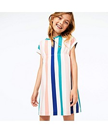 Toddler and Little Girls Short Sleeve Striped Dress
