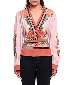 Think Pink Printed Blouse