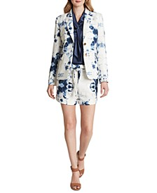 Floral Two-Button Blazer
