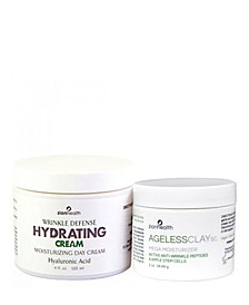 Wrinkle Defense and Fade Cream - Reduce Wrinkle Combo Ageless SC 2 oz + Hydrating 4 oz