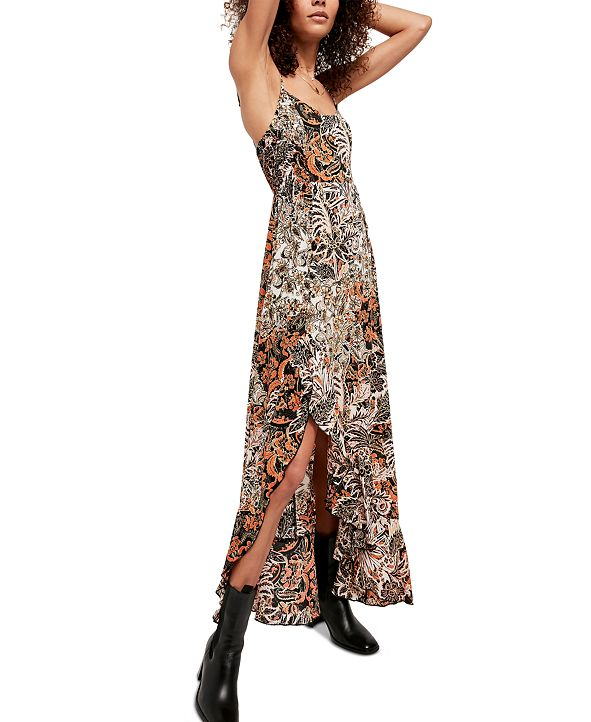Free People Forever Yours Smocked Slip Maxi Dress