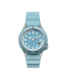 Men's Pacific Outlander Sky Blue Silicone Watch 45mm