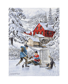 Safdie & Co. Inc Christmas Throw Winter Fun