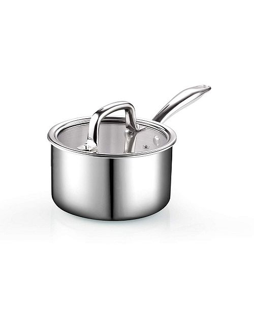 Cook N Home 2 Quart Tri-Ply Clad Sauce Pan with Lid