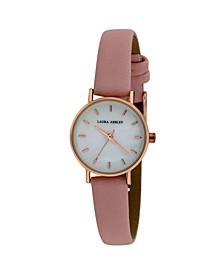 Women's Mini Slim Clean Pink Polyurethane Strap Watch 26mm