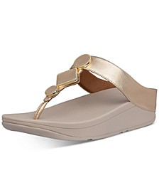 Women's Leia Leather Toe-Thongs Sandal