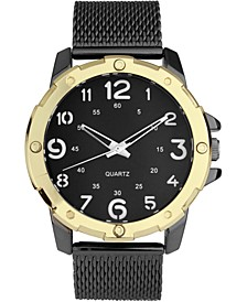 INC Men's Gunmetal Stainless Steel Mesh Bracelet Watch 45mm, Created for Macy's