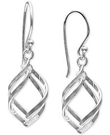 Double Twisted Teardrop Drop Earrings in Sterling Silver, Created for Macy's