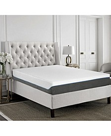 "Primo Glacial Ice 2 10"" Gel Memory Foam Cushion Firm Mattress - King"