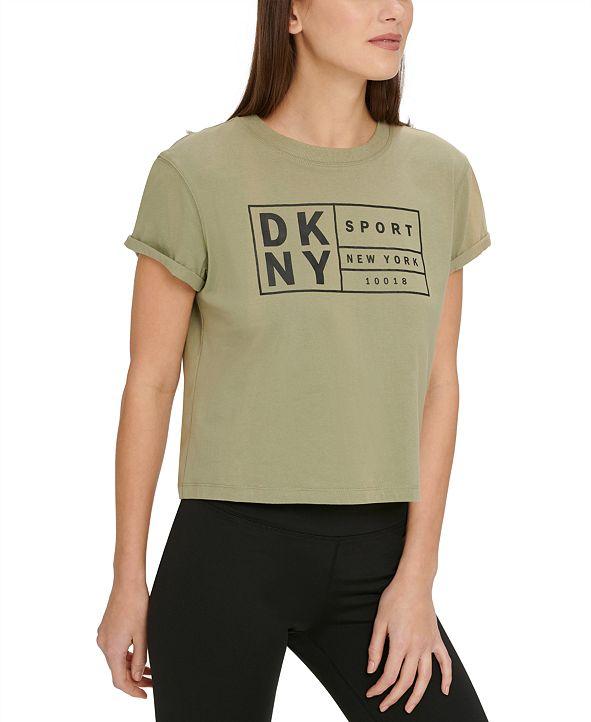 DKNY Sport Cotton Logo Cropped T-Shirt