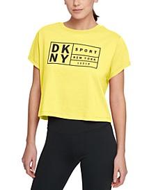 Sport Cotton Logo Cropped T-Shirt