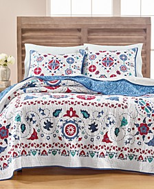 Vintage Folklore Quilt and Sham Collection, Created for Macy's