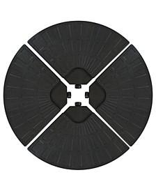 Heavy-Duty Cantilever Offset Patio Umbrella Base, Set of 4