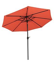 9' Outdoor Patio Umbrella with Canopy Auto Tilt and Crank