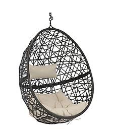 Caroline Swing Resin Wicker Modern Design Hanging Egg Chair