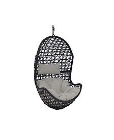 Cordelia Swing Resin Wicker Large Basket Design Hanging Egg Chair and Headrest