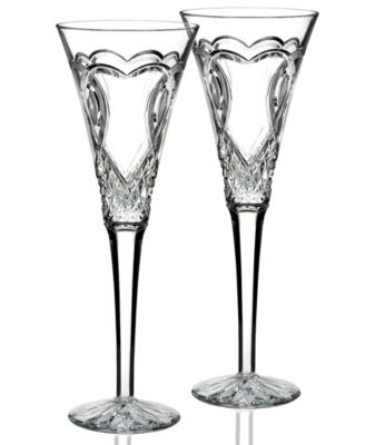 Gifts Wedding Collection Toasting Flutes Set Of 2  sc 1 st  Macyu0027s & Waterford Crystal Gifts Wedding Collection u0026 Reviews - Macyu0027s