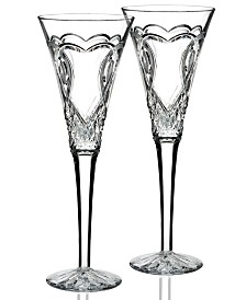 Waterford Gifts, Wedding Collection Toasting Flutes, Set Of 2