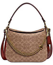 Coated Canvas Signature Chain Hobo