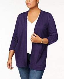 Plus Size Cotton Cozy Cardigan, Created for Macy's