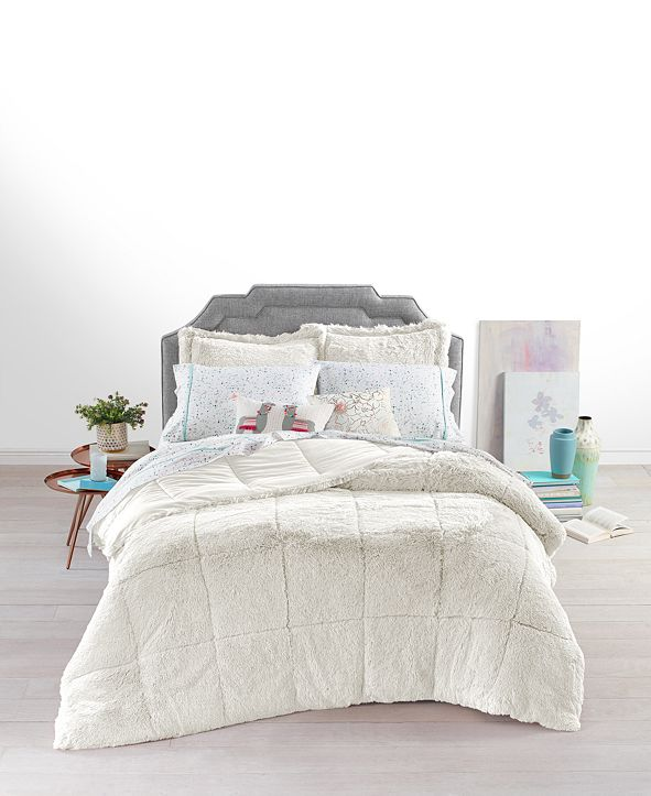 Martha Stewart Collection Shaggy Faux Fur Twin/Twin XL 2-Pc. Comforter Set, Created for Macy's