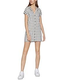 Plaid Shirtdress
