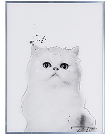 """Persian Pet Paintings on Reverse Printed Glass Encased with a Gunmetal Anodized Frame Wall Art, 24"""" x 18"""" x 1"""""""