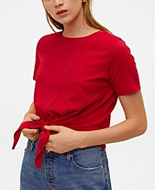 Knot Cotton T-Shirt
