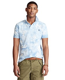 Men's Big & Tall Classic-Fit Hawaiian Mesh Polo