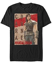Star Wars The Mandalorian Cara Dune Poster Short Sleeve Men's T-shirt