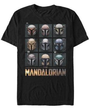 Fifth Sun Men's Mando Helmet Boxup Short Sleeve Crew T-shirt
