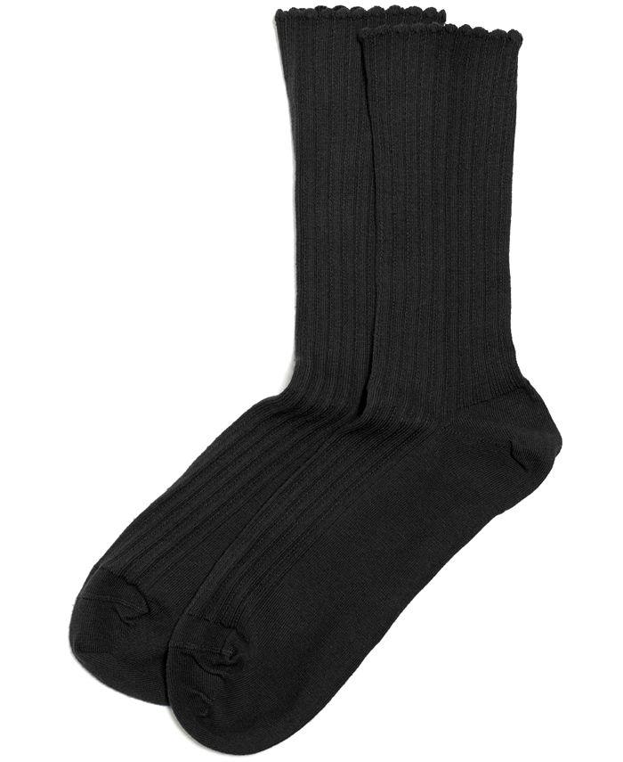 Hue - HUE Scallopped Pointelle Socks