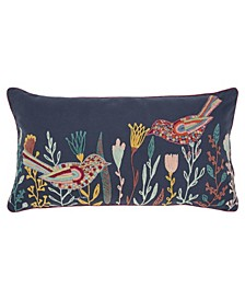 "Floral Decorative Pillow Cover, 26"" x 14"""