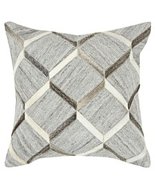 "Fretwork Down Filled Decorative Pillow, 20"" x 20"""