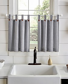 "Tucker Ticking Stripe 30"" x 24"" Tier Curtain Set"