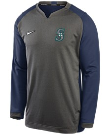 Men's Seattle Mariners Authentic Collection Thermal Crew Sweatshirt