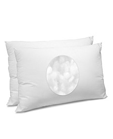 CoolMAX 400 Thread Count Cotton King Bed Pillow, 2-Pack
