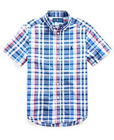 Big Boys Cotton Madras Shirt