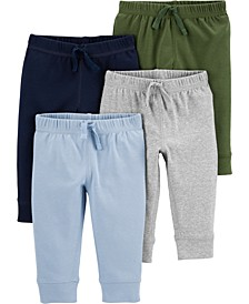 Baby Boys 4-Pk. Cotton Pull-On Pants