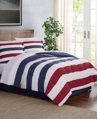 Modern Stripe 6-Pc. Twin XL Comforter Set, Created for Macy's