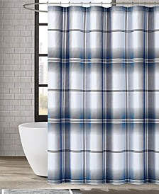 "Nolan Houndstooth Stripe Shower Curtain, 72"" x 72"""