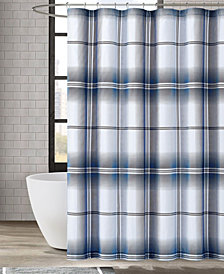 "London Fog Nolan Houndstooth Stripe Shower Curtain, 72"" x 72"""