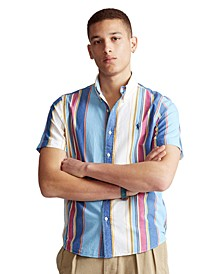 Men's Classic Fit Striped Poplin Shirt