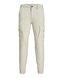 Men'S Linen Cargo Jogger Pants