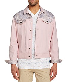 Men's Slim-Fit Stretch Queen Coral Trucker Jacket