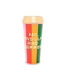 Deluxe Hot Stuff Thermal Mug - Me, Myself, and Coffee