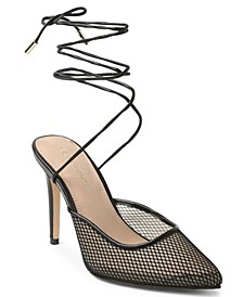 Hendri Mesh Tie-Up Pumps